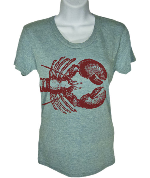 Women's Lobster Nautical T Shirt - American Apparel Tshirt - S M L Xl