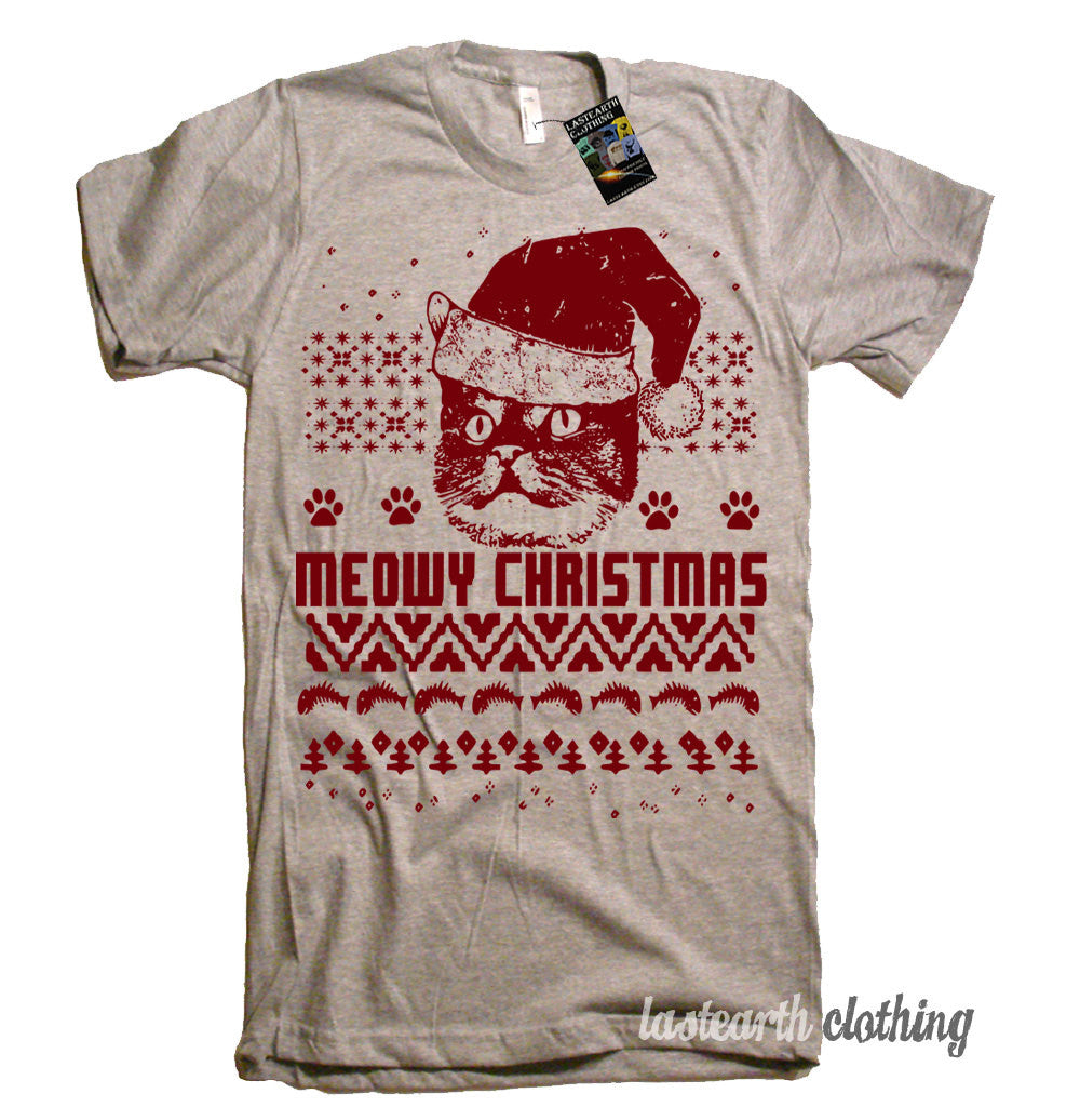 cat christmas ugly sweater t shirt american apparel tshirt christmas party t shirt gifts for cat lovers tshirt funny cat tees