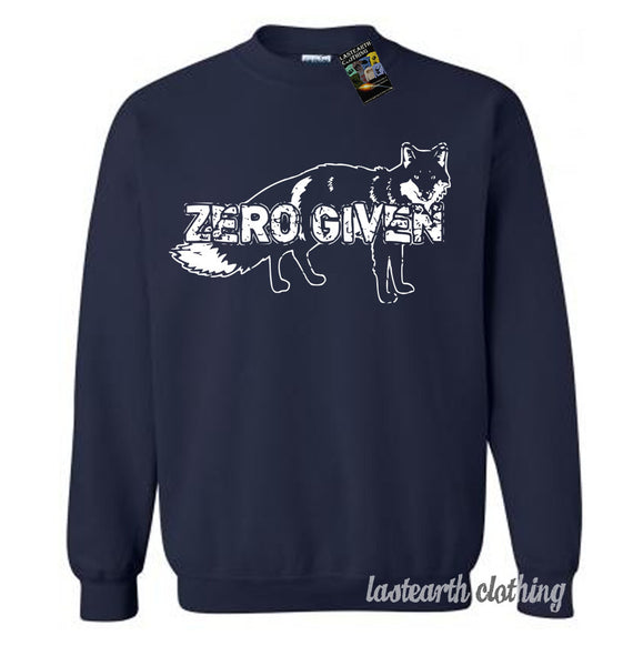 Zero Fox Given Sweater Fleece Pullover Sweatshirt - S M L Xl 2X
