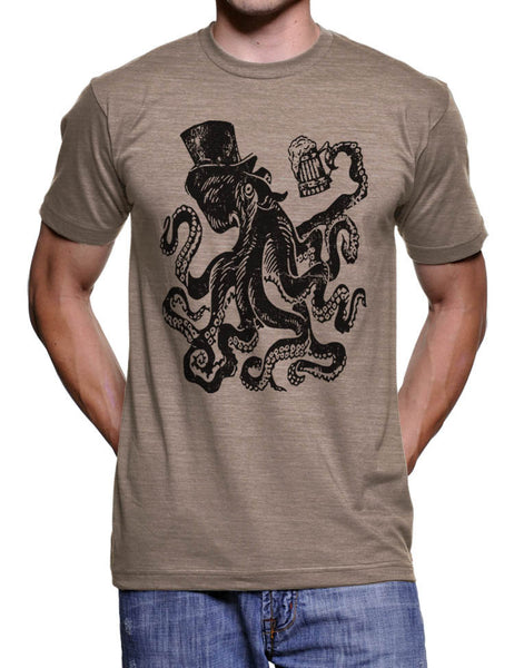 Saint Patricks Day Octopus T Shirt St Patties Day Funny Tee - American Apparel - S M L Xl Xxl (Color Options)