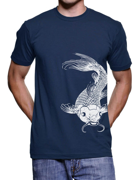 Koi Fish T-Shirt Botanical Garden Koi Pond Japanese Fish Tshirt Mens Tshirts Gifts For Him Graphic Tshirts Animal T-Shirts Zen Gifts