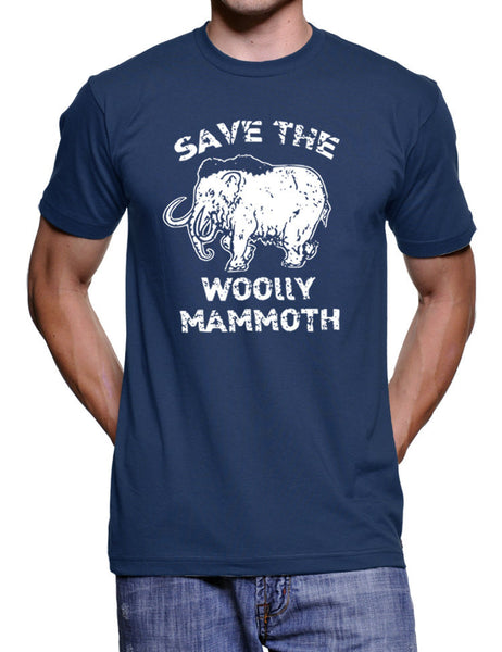 Mens Save The Woolly Mammoth T Shirt - Funny Elephant t Shirt - Prehistoric Elephant - Funny Tshirts Gifts Birthdays T-Shirts S-3X