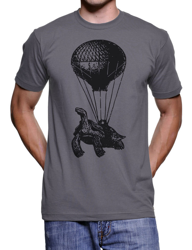 Turtle On A Hot Air Balloon T Shirt Birthday Tee Shirt Gifts for