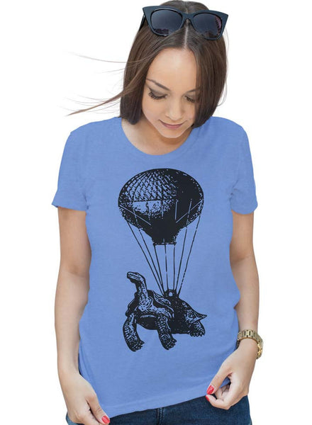 Turtle Shirt Hot Air Balloon Shirt Womens Graphic Tees Mens Tshirt Kids Tshirt Funny Tshirts Birthday Shirt Gift T Shirt Gifts For Mom Him