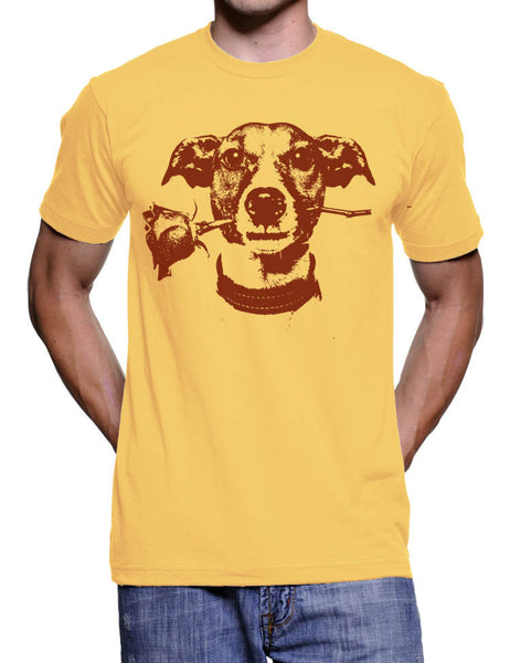 Jack Rose T-Shirt - Cute Jack Russell Dog Tee Shirt - Valentines Day Gift Ideas - Cute Novelty Gifts - Men Womens Kids - Dog Lover