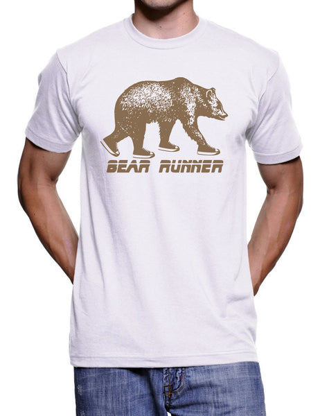 Grizzly Bear Runner T Shirt - American Apparel Tshirt - S M L Xl Xxl (5 Color Options)