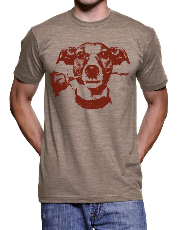 Jack Rose T Shirt Cute Jack Russell Dog Tee Shirt Valentines Day