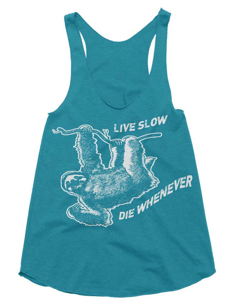 Live Slow Die Whenever Sloth Tank - American Apparel Tanktop - XS S M L (Color Options)