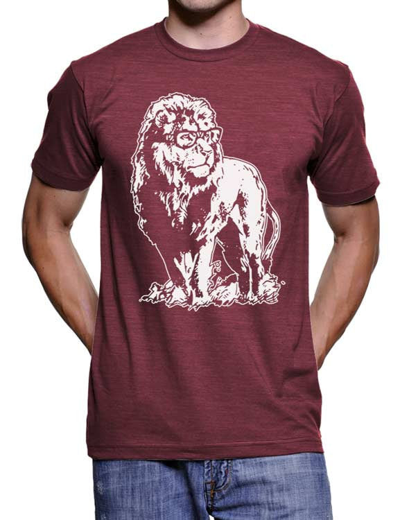 6bf070e7 Lion Professor T Shirt Lion Tee Geeky Nerdy Teacher Gift Ideas Gifts For  Him For Her Men Women Birthday Present Glasses Vintage Funny Tees