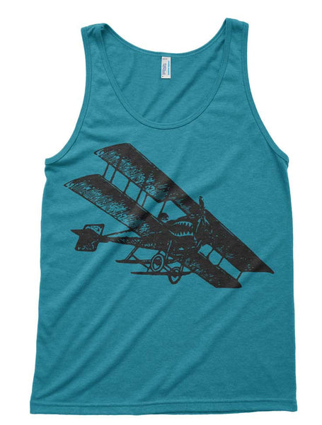 Airplane Tri-Blend Tank - American Apparel Unisex Tanktop - XS S M L Xl (Color Options)