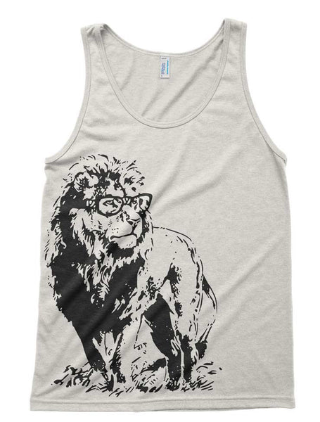 Mens Lion Professor Tri-Blend Tank - American Apparel tanktop - XS S M L Xl (Color Options)