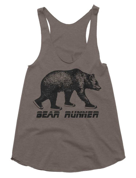 Bear Runner Tri-Blend Racerback Tank - American Apparel Tanktop - XS S M L (Color Options)