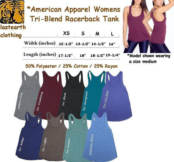 Deer Buck Genius Tri-Blend Racerback Tank - American Apparel Tanktop - XS S M L (Color Options)