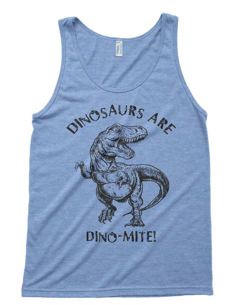 Dinosaurs Are Dinomite Tri-Blend Tank - American Apparel Unisex Tanktop - XS S M L (Color Options)