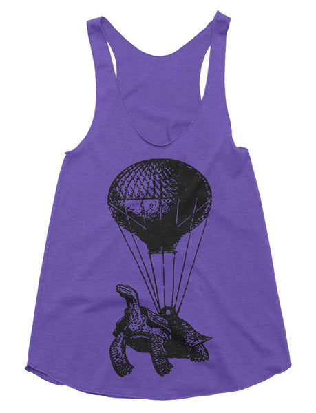 Hot Air Balloon Tri-Blend Racerback Tank - American Apparel Tanktop - XS S M L (Color Options)