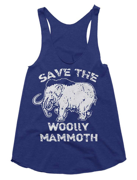 Save The Wooly Mammoth Tri-Blend Racerback Tank - American Apparel Tanktop - XS S M L (Color Options)
