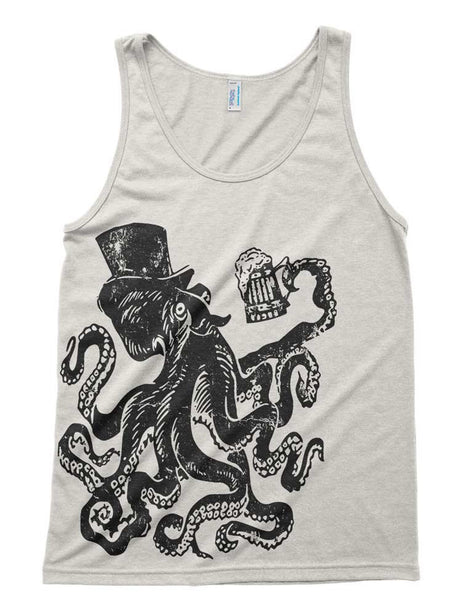 Otto The Octopus Tri-Blend Tank - American Apparel Unisex Tanktop - XS S M L Xl (Color Options)