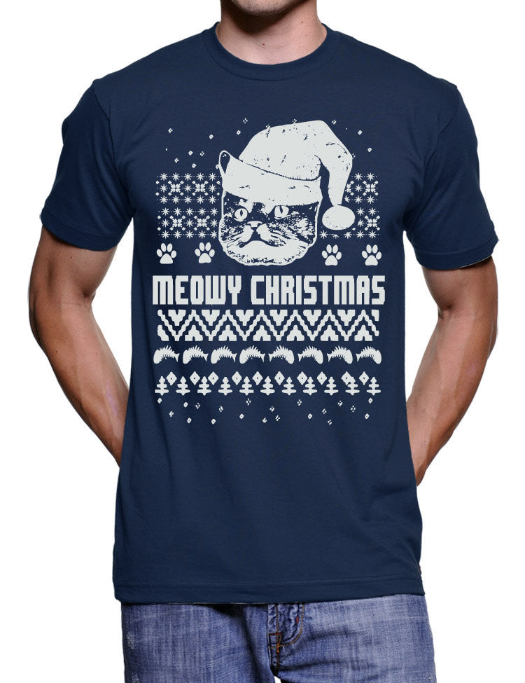 db83920e Funny Cat Christmas T Shirt Christmas Ugly Sweater Tshirt Cat in a Hat Funny  Christmas Tshirts Gifts For Cat Lovers Holiday Gift Shirts Cats