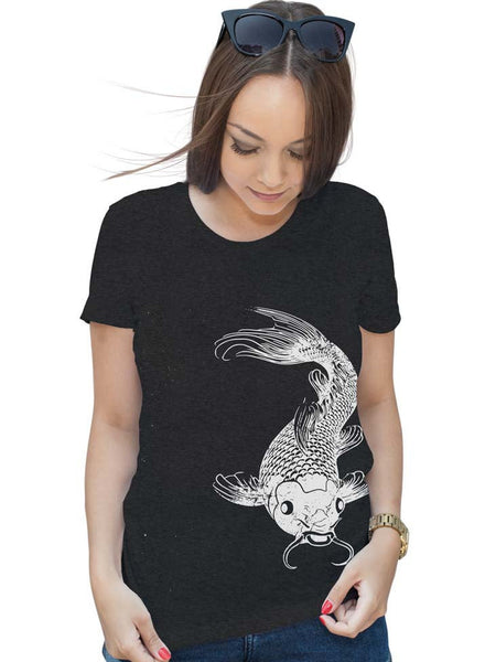 Womens Koi Fish T-Shirt - Gifts For Her- Fishing Shirt - Fish Tshirt - Nautical Beach - Koi Gift - S M L Xl 2X