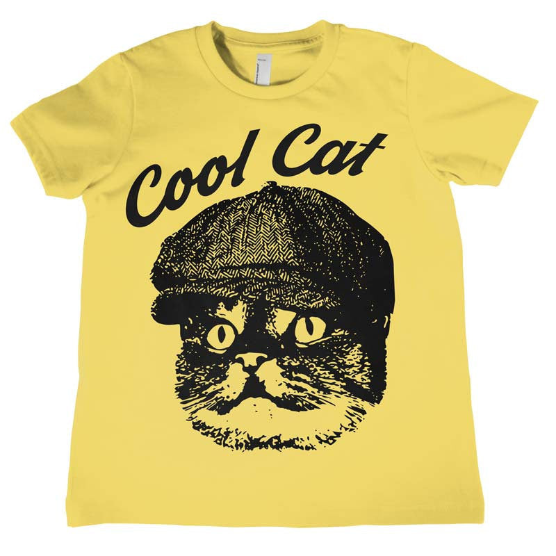 Kids Cool Cat T Shirt Boys Girls Birthday Gift Funny Tees Childrens Shirts Tee Cute Face Whiskers