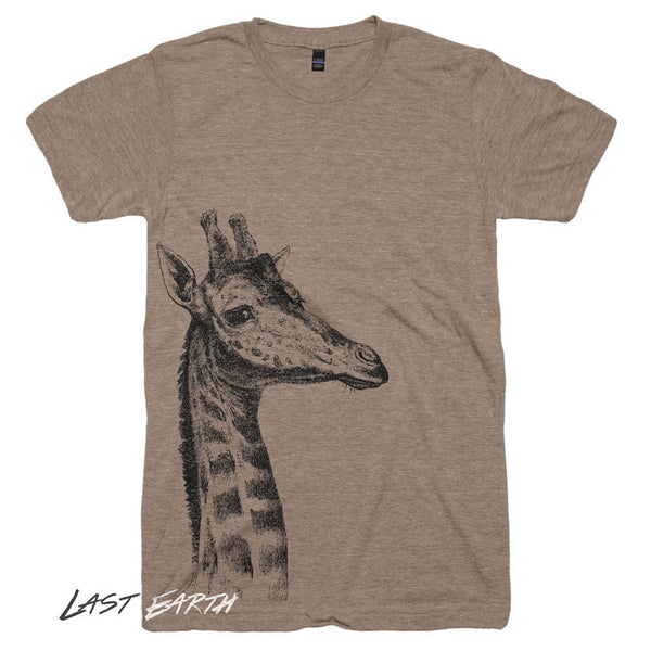 Giraffe T-shirt - Animal Illustration Wild Life T shirt - Animal Novelty Gift Idea Tshirts Africa Wild and Free Soft Mens Womens T Shirts