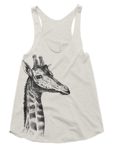 Women's Racerback Tank - Giraffe - Womens Athletic Workout Tank - Running Tank - Giraffe Gift Tank Top Gift Ideas Gifts For Her Girlfriend