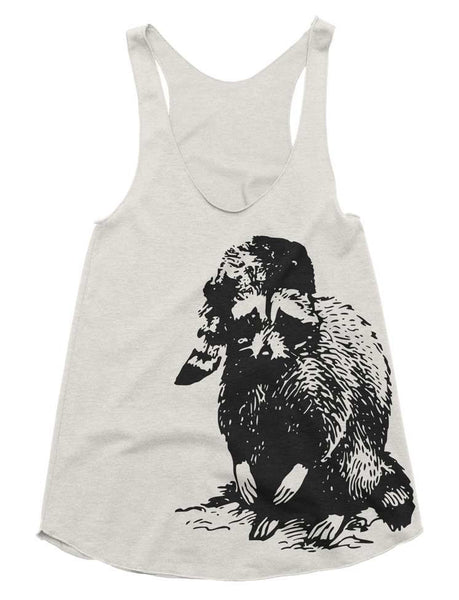 Ladies Racerback Workout Tank Bad Raccoon - Womens Athletic Workout Tank - Running Tank - Outdoors Gym Shirt Girls Tank Funny Ladies Fitness