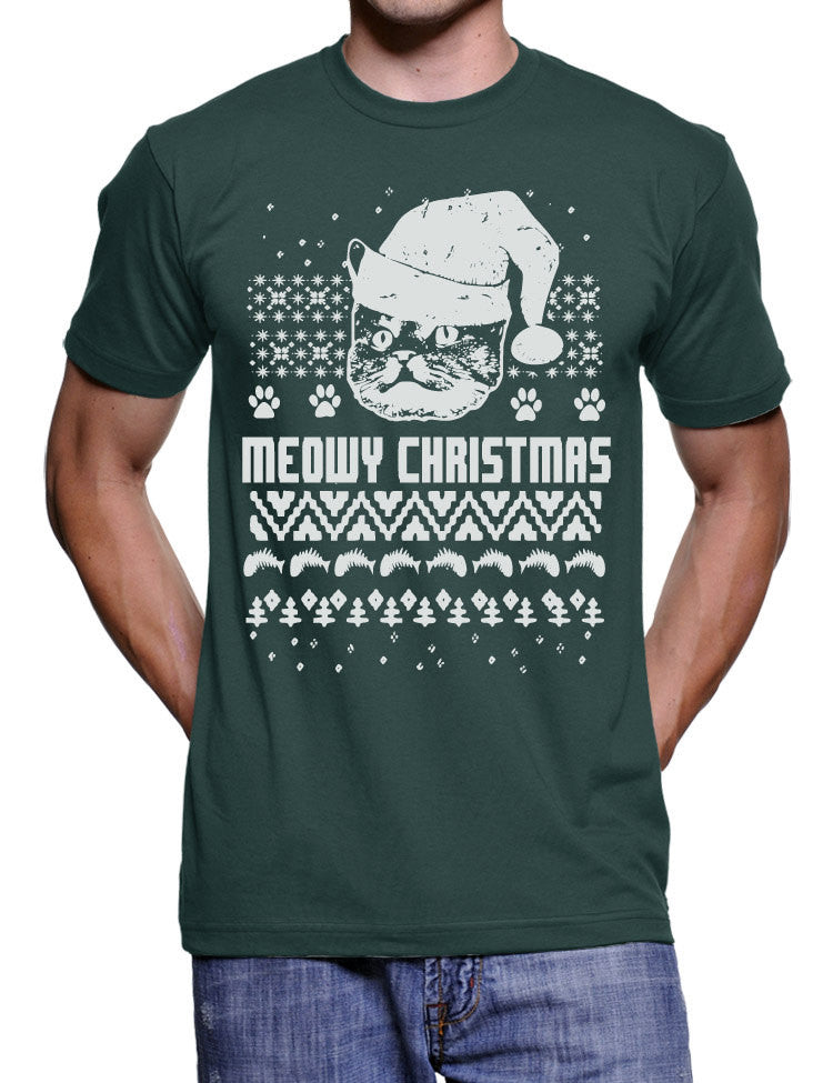 funny cat christmas t shirt christmas ugly sweater tshirt cat in a hat funny christmas tshirts gifts for cat lovers holiday gift shirts cats - Funny Christmas T Shirts