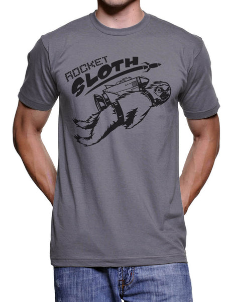 Rocket Sloth Tshirt Mens Tshirts Funny Sloth T Shirts Space Rocket Engineer Tshirt Gifts For Him Animal Tshirt Science Geeks Nerdy Tshirts