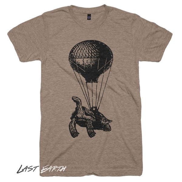 Flying Turtle TShirt Funny Animal Tshirts Vintage Hot Air Balloon Mens Pilot Gifts Flying Turtle Tshirt Womens Tshirt Cool Birthday Gift Tee