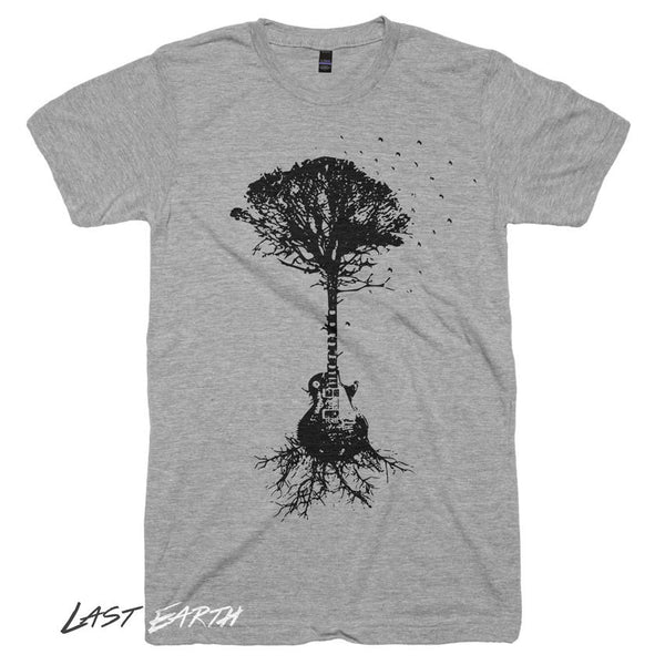 Guitar Tree T Shirt Music Man Tshirt Gifts For Guitar Players Camping Tshirts Outdoors Music Tees Mens Tshirts Guitar T Shirt Gifts For Him