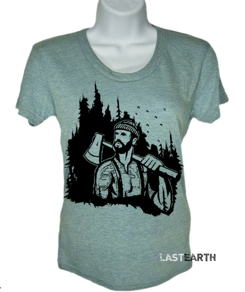 Ladies Lumberjack T Shirt Camping T Shirt Womens T Shirt Mountains Are Calling T Shirt Camp Gifts For Her Trees T Shirt Woodlands T Shirt