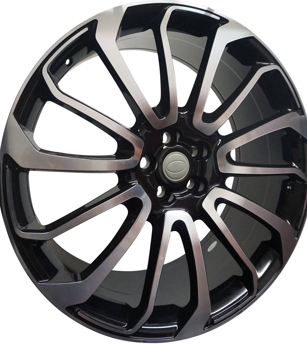 24 Inch Rims Range Rover Autobiography Style Sport LR3 LR4 & HSE Wheels Black Machined Face