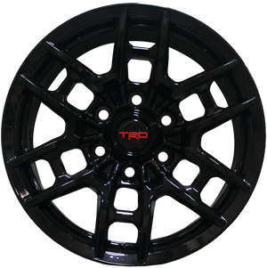 17 Inch Toyota TRD PRO Style Rims Fits 4Runner FJ Cruiser Tacoma Style Gloss Black Wheels