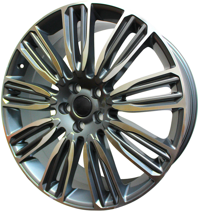 22 Inch Rims Range Rover Autobiography Sport LR3 LR4 & HSE Wheels Gunmetal Machined Face