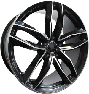 18 Inch Audi Rims A3 A4 A5 A6 A7 A8 S3 S4 S5 S6 S7 S8 RS5 RS6 RS7 Black Machined Wheels