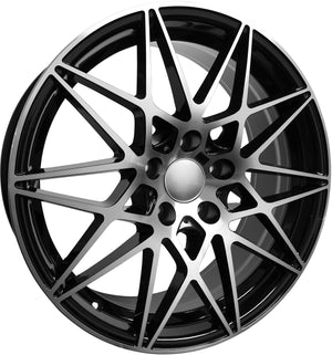 "19"" BMW 4 Series Rims 5 Series 6 Series 528 535 545 550 645 640 650 Black Machined Wheels"