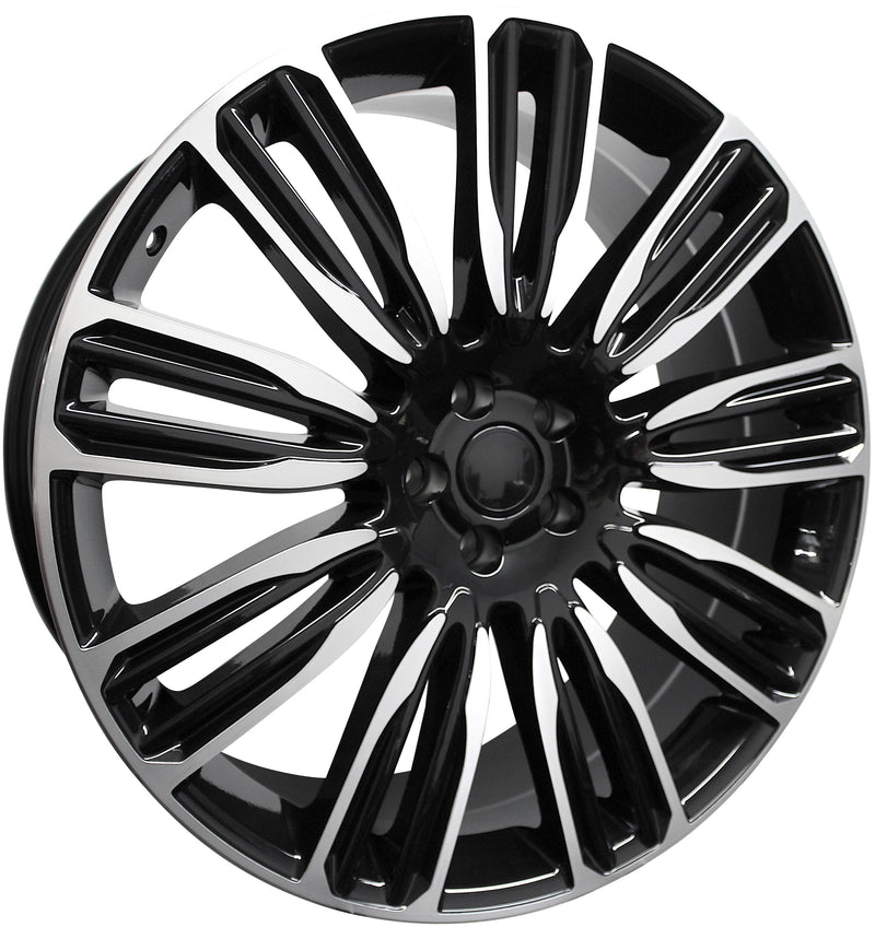 21 Inch Rims Range Rover Autobiography Sport LR3 LR4 & HSE Wheels Black Machined Face