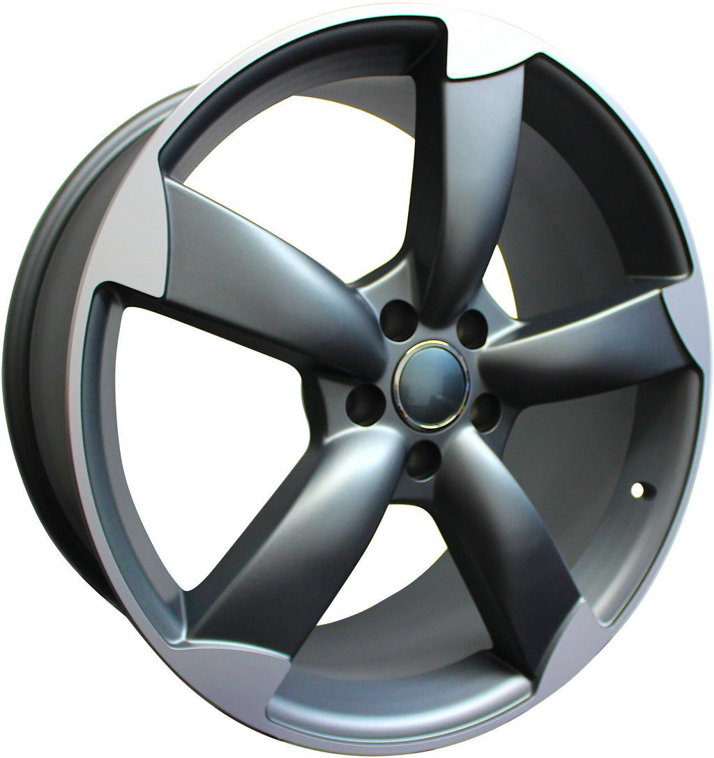20 Inch Audi Rims A5 A6 A7 A8 S5 S6 S7 S8 RS5 RS6 RS7 Gunmetal Machined Tips Wheels
