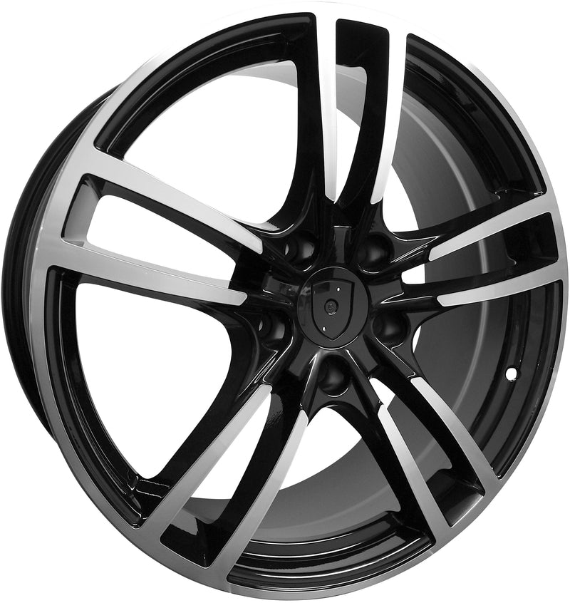 22 INCH RIMS FIT PORSCHE PANAMARA CAYENNE TURBO S GTS BASE STAGGERED TURBO 2 WHEELS