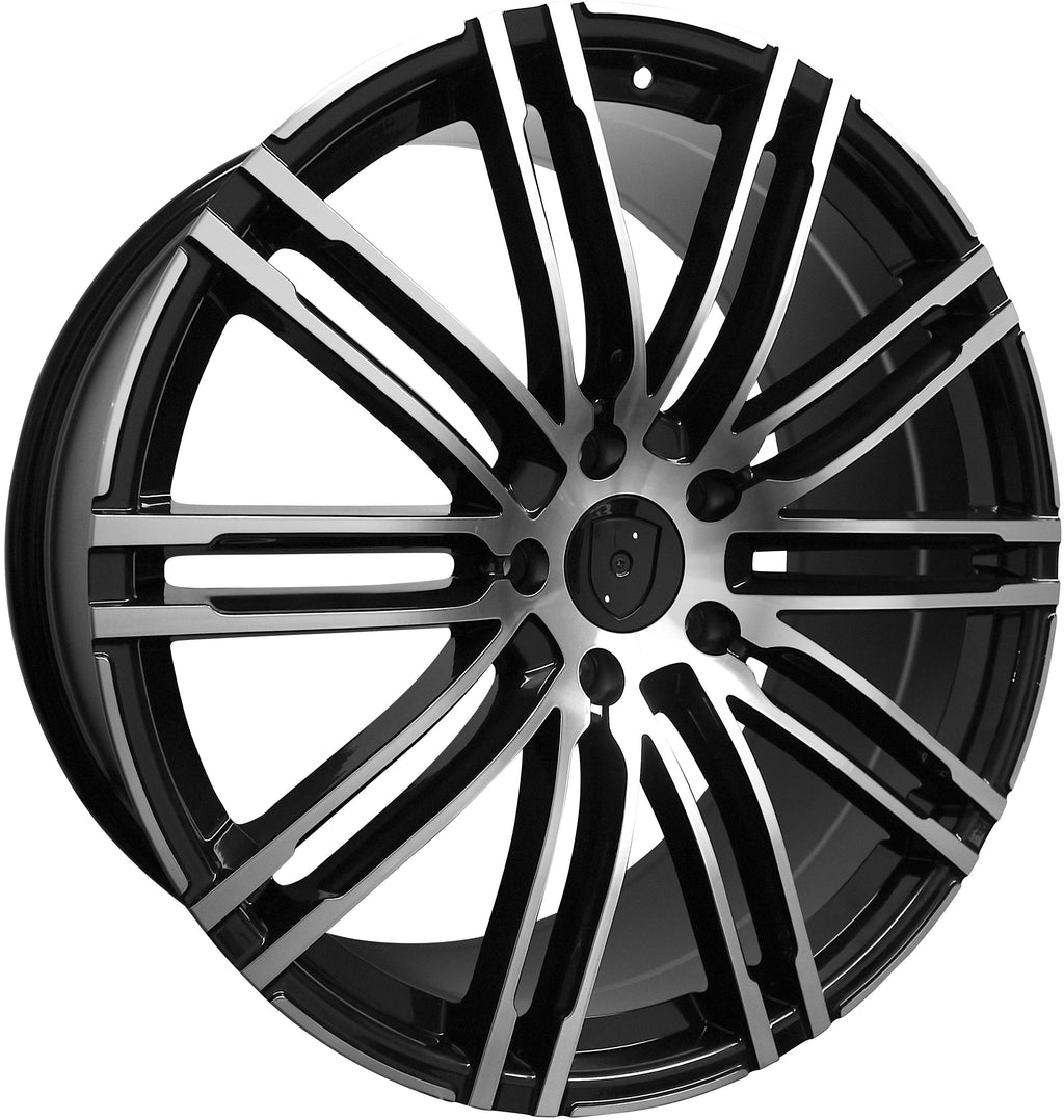 20 Inch Rims Fits Porsche Cayenne Turbo S GTS Base Machined Black Wheels