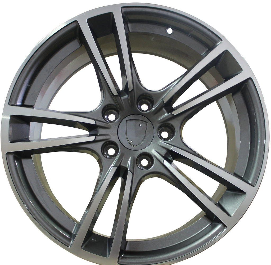 20 Inch Rims Fits Porsche Panamera Base Turbo S GTS Turbo 2 Wheels Gunmetal Machined - Concept Wheels