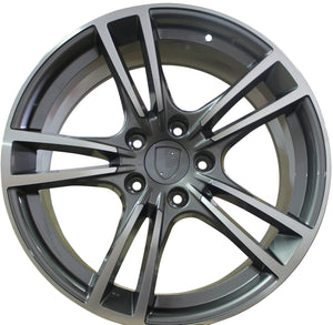 20 Inch Rims Fits Porsche Panamera Base Turbo S GTS Turbo 2 Wheels Gunmetal Machined