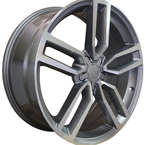 20 Inch Audi Rims A4 A5 A6 A7 A8 S4 S5 S6 S7 S8 RS5 RS6 RS7 Gunmetal Machined Wheels