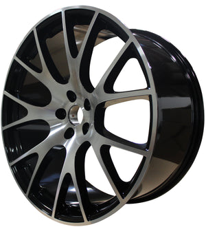 22 INCH RIMS HEMI SRT HELLCAT CHALLENGER DODGE CHARGER MACHINED WHEELS