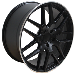22x10 Inch Mercedes ML GL GLS GLE Rims ML63 ML550 ML500 ML400 GL63 GL550 GLE GLS Satin BlackWheels