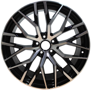 19 Inch Rims Audi S Line R8 Style A4 S4 A5 S5 A6 S6 A7 S7 Q3 Q5 SQ5 Mesh Machined Black Wheels