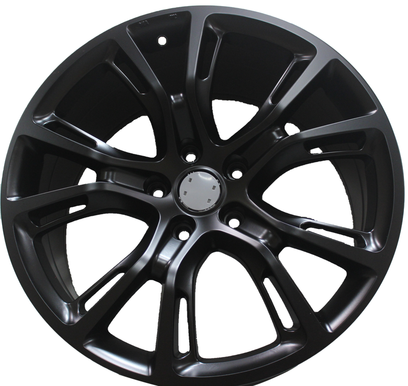 20 Inch Jeep SRT Hellcat Grand Cherokee Laredo Satin Black Staggered Wheels