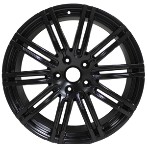 22 Inch Rims Fits Porsche Cayenne Turbo S GTS Base 2019 Satin Black Wheels