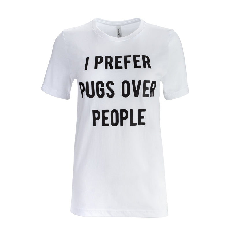 Pugs Over People T-Shirt - The Black Pug